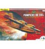 COFFRET PRESTIGE MAQUETTE AVION POMPIERS DU CIEL - ECHELLE 1/72 - HELLER - 52702