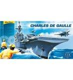 COFFRET PRESTIGE MAQUETTE PORTE AVIONS CHARLES DE GAULLE - ECHELLE 1/400 - HELLER - 52905