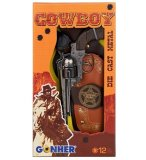 COFFRET SHERIFF COWBOY - PISTOLET 12 COUPS + HOLSTER - GONHER - 149