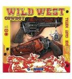 COFFRET WILD WEST COW BOY - PISTOLETS 8 COUPS + ETUIS + ETOILE - GONHER - 158
