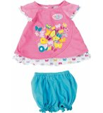 ENSEMBLE ROSE ET BLEU PAPILLON BABY BORN - HABIT POUPEE 43 CM - ZAPF CREATION (22)