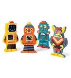 FUNNY MAGNET : 4 ROBOTS MAGNETIQUES EN BOIS - JANOD - J07037