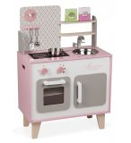 GRANDE CUISINE MACARON ROSE EN BOIS - JANOD - J03025 - DINETTE ENFANT