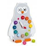 HORLOGE CHOUETTE OWLY CLOCK EN BOIS - JANOD - 08132 - JEU EDUCATIF