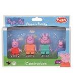 LA FAMILLE PEPPA PIG - 4 FIGURINES - PLAYBIG BLOXX - 800057113