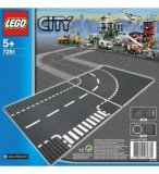 LEGO CITY 7281 PLAQUES DE ROUTE - INTERSECTION ET VIRAGE