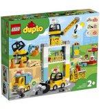LEGO DUPLO 10933 LA GRUE ET LES ENGINS DE CONSTRUCTION