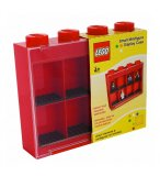 LEGO VITRINE DE RANGEMENT ROUGE MINI FIGURINES 8 CASES
