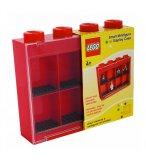 LEGO VITRINE DE RANGEMENT ROUGE MINI FIGURINES 8 CASES