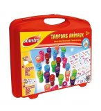 MALLETTE TAMPONS ANIMAUX - JOUSTRA - 41476 - TIMBRES A IMPRIMER