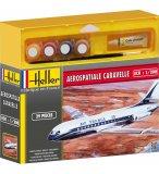 MAQUETTE AVION AEROSPATIALE CARAVELLE - ECHELLE 1/200 - HELLER - 49074