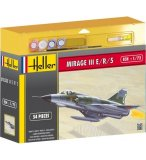 MAQUETTE AVION MILITAIRE DASSAULT MIRAGE III E/R/5 - ECHELLE 1/72 - HELLER - 50323