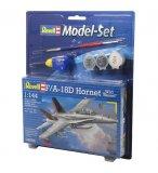 MAQUETTE AVION MILITAIRE F/A-18D HORNET - ECHELLE 1/144 - REVELL MODEL-SET - 64064