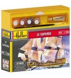 MAQUETTE BATEAU LE SUPERBE - ECHELLE 1/500 - HELLER - 49067