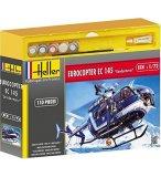 MAQUETTE HELICOPTERE GENDARMERIE : EUROCOPTER EC 145 - ECHELLE 1/72 - HELLER - 50378