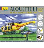 MAQUETTE HELICOPTERE SA ALOUETTE III - ECHELLE 1/100 - HELLER - 49045