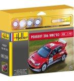 MAQUETTE VOITURE PEUGEOT 206 WRC 03 - ECHELLE 1/43 - HELLER - 50113