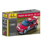 MAQUETTE VOITURE PEUGEOT 206 WRC '03 - ECHELLE 1/43 - HELLER - 80113