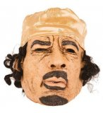 MASQUE LATEX COLONEL KADHAFI ADULTE - HOMME POLITIQUE, CELEBRITE