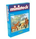 MINISTECK 4 EN 1 CHEVAUX - MOSAIQUE PUZZLE - 1600 PIECES - JEU CREATIF