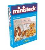 MINISTECK 4 EN 1 CHIENS ET CHATS - MOSAIQUE PUZZLE - 1600 PIECES - JEU CREATIF