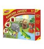 MOULAGE ANIMAUX JUNGLE - PLATRE - JOUSTRA - 43525 - LOISIRS CREATIFS