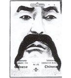 MOUSTACHE CHINOIS NOIRE - ADULTE - TAILLE UNIQUE - ACCESSOIRE DEGUISEMENT