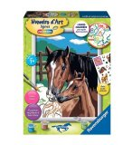 NUMERO D'ART CHEVAUX TENDRESSE - RAVENSBURGER - 28636