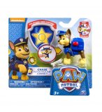 PAT PATROUILLE CHASE AVEC SAC A DOS ET BADGE - FIGURINE CHIEN - PAW PATROL - SPIN MASTER - 20064337