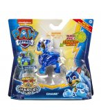 PAT PATROUILLE CHASE MIGHTY PUPS CHARGED UP AVEC AILES ET CASQUE LUMINEUX - FIGURINE CHIEN - PAW PATROL - SPIN MASTER - 20122532