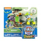 PAT PATROUILLE JUNGLE ROCKY AVEC SAC A DOS - FIGURINE CHIEN - PAW PATROL - SPIN MASTER - 20075129