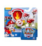 PAT PATROUILLE MARCUS AVEC SAC A DOS ET BADGE - FIGURINE CHIEN - PAW PATROL - SPIN MASTER - 20064335