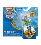 PAT PATROUILLE ROCKY MIGHTY PUPS AVEC BADGE ET PATTES LUMINEUX - FIGURINE CHIEN - PAW PATROL - SPIN MASTER - 20107731
