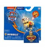 PAT PATROUILLE RUBEN MIGHTY PUPS AVEC BADGE ET PATTES LUMINEUX - FIGURINE CHIEN - PAW PATROL - SPIN MASTER - 20107728