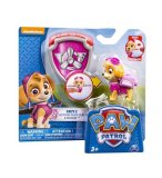 PAT PATROUILLE STELLA AVEC SAC A DOS ET BADGE - FIGURINE CHIEN - PAW PATROL - SPIN MASTER - 20065105