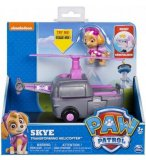 PAT PATROUILLE STELLA AVEC SON HELICOPTERE TRANSFORMABLE - FIGURINE CHIEN - PAW PATROL - SPIN MASTER 20101574