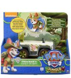 PAT PATROUILLE TRACKER ET SA JEEP - FIGURINE CHIEN - PAW PATROL JUNGLE RESCUE - SPIN MASTER - 20116039