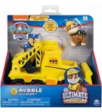 PAT PATROUILLE ULTIMATE RESCUE RUBEN AVEC SON TRACTOPELLE - FIGURINE CHIEN - PAW PATROL - SPIN MASTER - 20101539