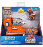 PAT PATROUILLE ULTIMATE ZUMA AVEC SON HOVERCRAFT  - FIGURINE CHIEN - PAW PATROL - SPIN MASTER - 20101538