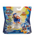 PAT PATROUILLE ZUMA MIGHTY PUPS CHARGED UP AVEC AILES ET CASQUE LUMINEUX - FIGURINE CHIEN - PAW PATROL - SPIN MASTER - 20122534