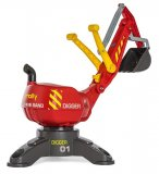 PELLETEUSE EXCAVATRICE DIGGER ROUGE ENFANT - ROLLY TOYS - 422036 - BAC A SABLE