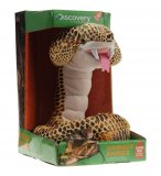 PELUCHE ANIMEE SERPENT COBRA ROYAL JAUNE - 1 METRE - DISCOVERY CHANNEL - JAY0186A