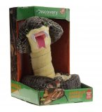 PELUCHE ANIMEE SERPENT COBRA ROYAL MARRON - 1 METRE - DISCOVERY CHANNEL - JAY0186C