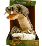 PELUCHE ANIMEE SERPENT CROTALE GRIS - 1 METRE - DISCOVERY CHANNEL - JAY0186E