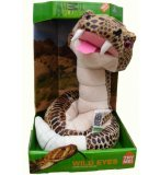 PELUCHE ANIMEE SERPENT CROTALE MARRON - 1 METRE - DISCOVERY CHANNEL - JAY0186D