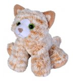 PELUCHE CHAT ORANGE 18 CM - WILD REPUBLIC - 18086