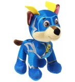 PELUCHE CHIEN CHASE 21 CM - PAT' PATROUILLE MIGHTY PUPS SUPER PAWS - SPIN MASTER - PELUCHE LICENCE
