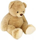 PELUCHE GEANTE OURS BEIGE 1M75 - SAM - MEGA OURS - XXXL - NICOTOY