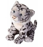 PELUCHE LEOPARD DES NEIGES 25 CM - WILD REPUBLIC - 16394
