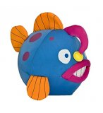 PELUCHE POISSON BALLON BLEU 24 CM - WILD PLANET - K7240